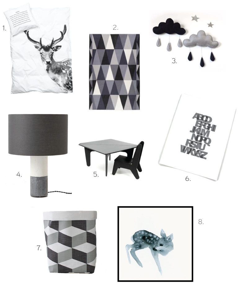 Monochromatic Kid Room