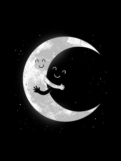 Moon hugs poster