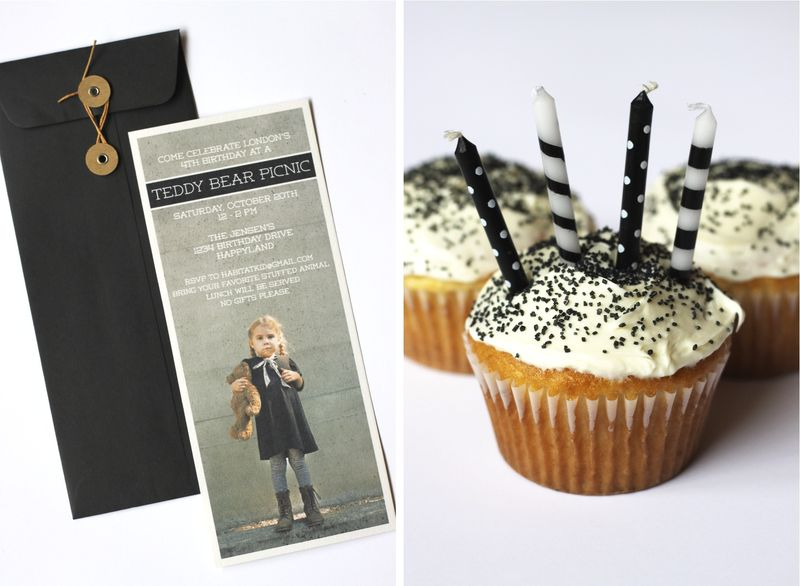 Invites and cupcakes