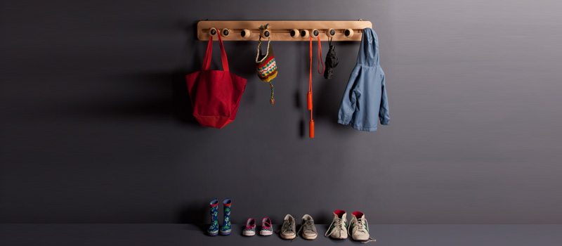 Interactive children's coat hooks :: HabitatKid Blog