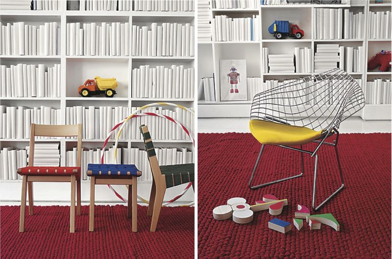 Kids Risom Chair and Bertoia Chair - HabitatKid blog