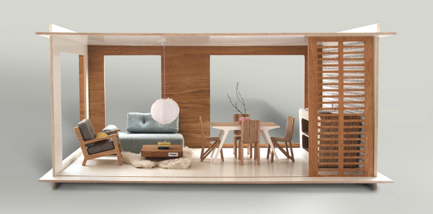 Modern dollhouse by miniio - HabitatKid blog