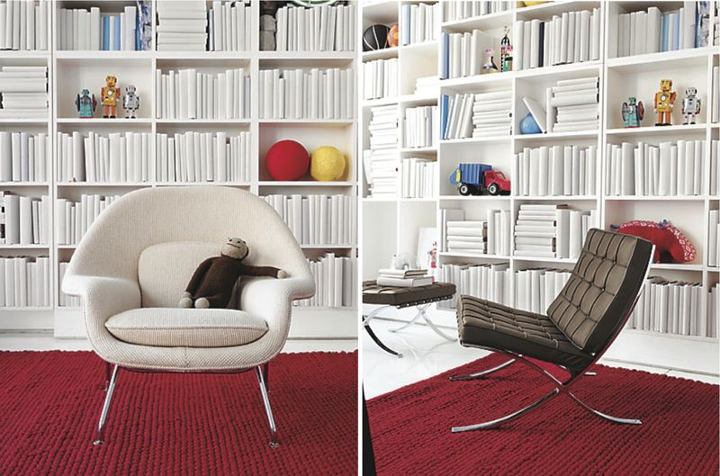 Kids Womb Chair and Barcelona Chair - HabitatKid blog