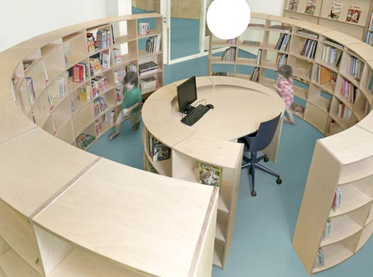 Spiral library 3 by studio dave keune - HabitatKid blog