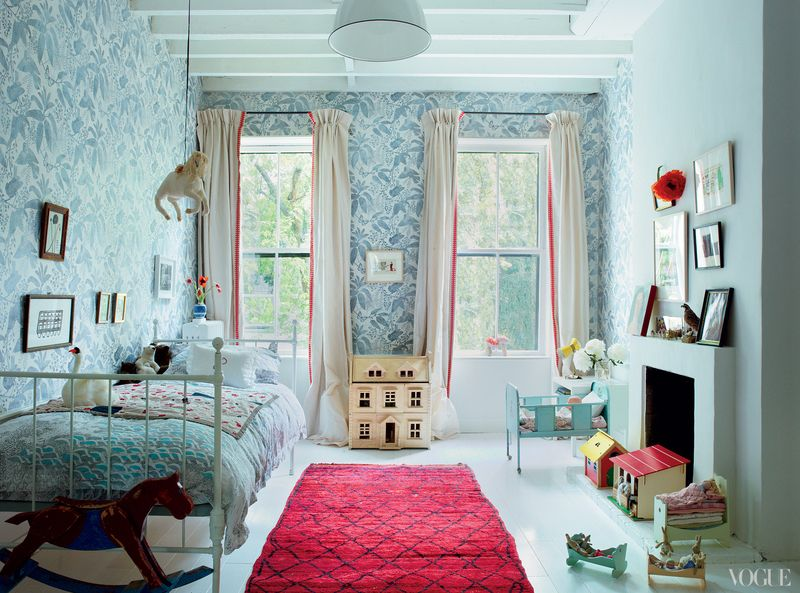Miranda brooks home via Vogue - HabitatKid blog