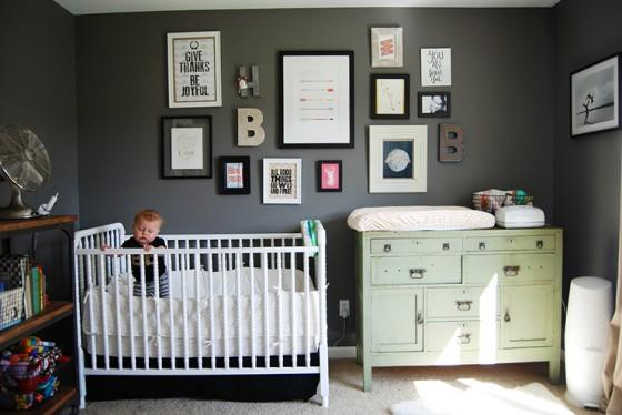 Dark grey nursery - HabitatKid blog