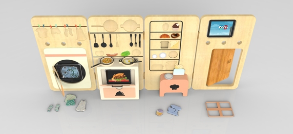 Foldable kitchen design - HabitatKid blog (3)