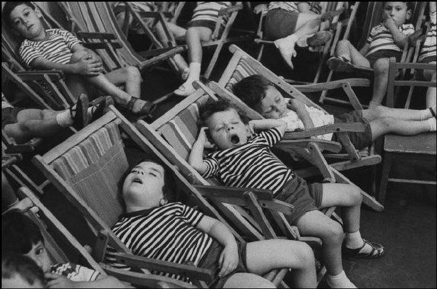 Kids lounging