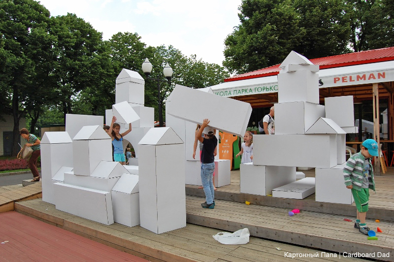 Cardboard village - HabitatKid blog