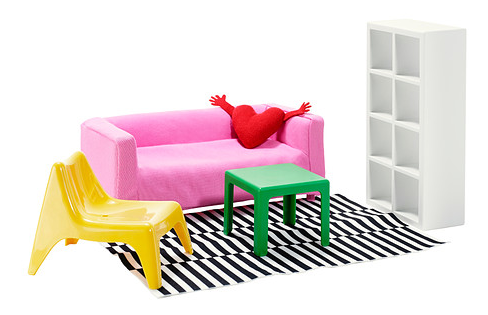 Ikea dollhouse furniture - HabitatKid blog